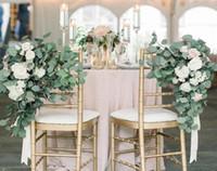 decorações do casamento da folha venda por atacado-Eucalipto artificial Folha Falso Plástico Eucalipto Ramo De Árvore De Simulação Deixa para o Natal decoração de casamento arranjo de Flores