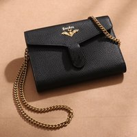 Wholesale new bat bags resale online - Designer Wallet Designer Bags Luxury Bag New Bat Bacchus Bag Chain Bag Single Shoulder Diagonal Span Leather Wallet Plain Color