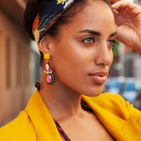 Wholesale vintage crystal earrings for sale - Group buy JUJIA Designs Colorful Crystal Drop Earrings New Fashion Luxury Style Fashion Jewelry For Women Boho Vintage Accessories