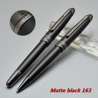 ingrosso penna 163-Promozione - Alta qualità Msk-163 Matte Black penna a sfera penna a sfera di cancelleria scuola forniture per ufficio con Monte numero di serie XY2006108