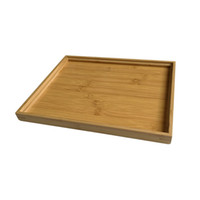 Wholesale food serves resale online - Fruit Storage Plate Bamboo Tea Cutlery Rectangular Tray Pallet Household Multi Function Decoration Food Trays Hotel Serving Trays BH1291 TQQ