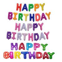şişirilebilir folyo harfleri toptan satış-Mutlu Doğum Günü Balonlar 16