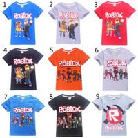 игры для мальчиков оптовых-15 Стиль Мальчики Девочки Roblox Stardust Этические Футболки 2019 Новый Детский Мультфильм Игры хлопок футболка с коротким рукавом Детская детская одежда B