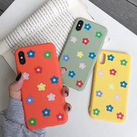 Wholesale sunflower phone case online – custom Cute Sunflower daisy Floral Phone Case For iPhone XR Cases For iphone X XS Max Matte silicon Soft Back Cover