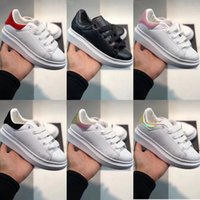 Wholesale eva children casual shoes resale online - Kids Boy Girl White High Qaulity Shoes Children Baby Fashion Designer Tripe Black Multi Casual Shoes Eur24