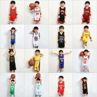Wholesale baby boy s outfits for sale - Group buy Summer Baby Boys Girls Suits Kids Basketball Clothing Children Breathable Sport Outfit Sleeveless T shirts Vest Tops Short Pants set