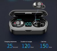Wholesale iphone factory outlet resale online - F9 Wireless Bluetooth V5 F9 TWS Headphone Earbuds LED Display With mAh Power Headsets VS SM R175 for iphone x samsung factory outlet