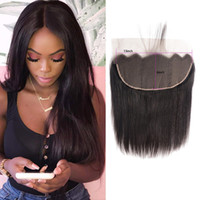 Brazilian Virgin Hair 13X6 Lace Frontal Straight Human Hair 13 By 6 Lace Frontal With Baby Hair Products Top Closure