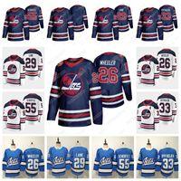 camisetas de hockey sobre patrimonio al por mayor-Winnipeg Jets 2019 Heritage Classic Jersey 26 Blake Wheeler 55 Mark Scheifele 29 Patrik Laine 33 Dustin Blank Hockey Jersey EN STOCK