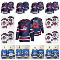 maillots de hockey d'héritage achat en gros de-Winnipeg Jets Heritage Classic Jersey 2019 26 Blake Wheeler 55 Mark Scheifele 29 Patrik Laine 33 Maillot de hockey Dustin Blank EN STOCK