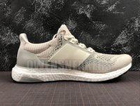 crème ultra boost achat en gros de-2020 Ultra Boost 1.0 2.0 chaussures de course pour hommes, femmes crème blanc noir ultraboost hommes 1.0 UB trainer chaussures de sport de coureur respirant