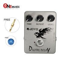 delay joyo venda por atacado-Joyo JF-08 Pedal de efeitos de delay digital com stompbox de qualidade com características musicais MU0008