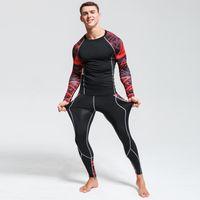 3d lycra großhandel-Mens Compression Shirts 3D Teen Wolf Langarm T-shirt Fitness Männer Lycra MMA Crossfit T-Shirts Strumpfhosen Markenkleidung