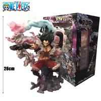 coleção de figuras de uma peça venda por atacado-Anime One Piece SA-MÁXIMA Cobra Man Luffy engrenagem Quatro Figuras de Ação Toy Figurals coleção OP presente Modelo