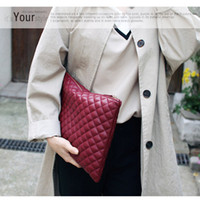 Wholesale ladies burgundy clutch bags for sale - Group buy Fashion clutch big envelope bag summer handbag women leather ladies hand bags stylish women clutches purse