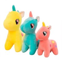 Wholesale unicorn dolls for kids online - 8Inch Pony Unicorn Apple Jack Rainbow Dash Stuffed Animals Pony Doll Plush Toy Best Gifts For Kid Friend younger sister