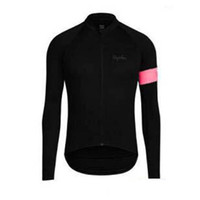 Wholesale long sleeve cycling jersey sale resale online - Factory direct sales RAPHA team Cycling long Breathable Sleeves jersey zipper Leisure T shirt free delivery