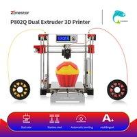 venta de i3 al por mayor-ZONESTAR Hot Sale barato Full Metal doble Extrusora RepRap i3 Auto Mix Open Source Actualiza grabado láser 3D DIY Kit de impresora
