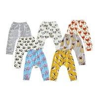 cartoon-druck-leggings kinder großhandel-INS Kinder Leggings Cartoon Tier Gedruckt Mädchen Hosen Kausalen Kind Hose Kinderkleidung Flamingo Panda Fox 8 Designs YW1859