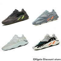 Wholesale pure tracks resale online - 700 Wave Runner static inertia pure gray men and women EG7487 running shoes Kanye West dad shoes luxury designer track and field shoes C6