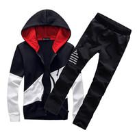 terli takım markaları toptan satış-Marka Tasarımcısı Spor Suit Erkekler Sıcak Kapüşonlu Eşofman Parça Polo Erkek Ter Takım Elbise Set Mektup Baskı Büyük Boy Eşofman Erkek Boyutu M-5XL