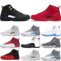 Wholesale drake ovo 12 white for sale - Group buy 12s mens basketball shoes Gym red bulls OVO flu game BORDEAUX taxi the master Dark grey Drake men fashion sports sneakers