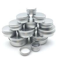 ingrosso scatola crema cosmetica-5g 10g 15g 20g 30g Vuoto alluminio contenitori cosmetici Pot Lip Balm vaso di latta per Crema Pomata Crema Mani Packaging Box