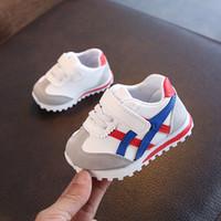 çocuklar ilk yürümeye başlayan ayakkabılar toptan satış-2019 Yeni Bebek Erkek Kız Toddler Ayakkabı Bebek Sneakers Yenidoğan Yumuşak Alt İlk Yürüyüşü kaymaz Moda Çocuklar ayakkabı