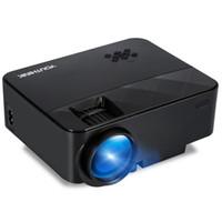 iphone mini projektörler toptan satış-HD Taşınabilir Projektör 50 W LED Video Projektör Desteği 1500 Lümen 1080 P Mini Taşınabilir iPhone PC Laptop için Andriod Smartphone