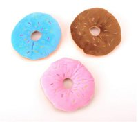 juguete de perro de algodón al por mayor-Nuevo hogar 11Cm Sightly Pet Chew Cotton Donut Play Toys Lovely Pet Dog Puppy Cat Tirando Chew Squeaker Quack Sound Toy Chew Donut Play Toys