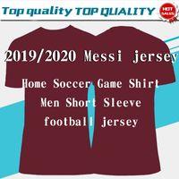 clubes de futbol al por mayor-Nuevos 2019 # 10 Camisetas de fútbol de casa de MESSI amarillas 19/20 # 17 GRIEZMANN # 11 O.DEMBELE # 9 SUAREZ # 4 RAKITIC Club Football Uniforms