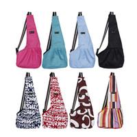 chiots sacs à bandoulière achat en gros de-11styles sac à bandoulière pour animal de compagnie slings de chat chiot maille confort voyage fourre-tout portable s / m / l ffa1641