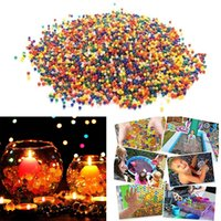 Wholesale growing toys resale online - 50000 Solid Color Orbeez Crystal Growing Swelling Water Beads Growing Balls for Water Toy Pistol Crystal Mud Home Decor