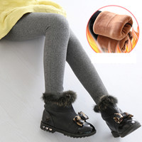 Wholesale trousers for girls fashion for sale - Fashion Winter Pants for Girls Casual Children Warm Trousers Kids Skinny Pencil Pant Boys Trousers Legging Infantil Para