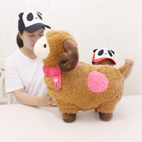 Wholesale animals goats for sale - Group buy kawaii soft animal sheep toy big cartoon goat doll alpaca pillow for girl birthday gift creative deco inch cm DY50800