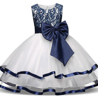 Wholesale big girls stockings resale online - Cheap Flower Girls Dresses For Wedding With Big Bow Lace Kids Toddlers Birthday Party Dress Children Princess Gowns In Stock