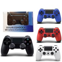 Wholesale video game packaging resale online - hot PS4 Wireless Game Controller for PlayStation PS4 Game Controller Gamepad Joystick Joypad for Video Games With Retail Package