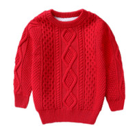 Wholesale years boys red white clothes for sale - children Winter Clothes Warm baby boys Girls sweater for Years Cashmere Pullovers plush inside Knitted Loose jacket