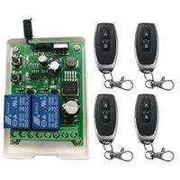 transmissor 2ch rf venda por atacado-Inteligente Múltipla Universal Interruptor de Controle Remoto Sem Fio Universal DC12V 24 V 36 V 48 V 2CH 2 CH 10A Relé Módulo Receptor e Transmissor RF