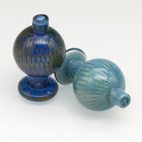 boules de couleur achat en gros de-Bouchon de carburateur en verre coloré coloré dôme de boule ronde pour 25mm XL Quartz thermique banger ongles tuyaux d'eau en verre, plates-formes pétrolières dab
