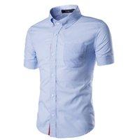 ingrosso t patch-T-shirt da uomo T-shirt da uomo con maniche corte Vestibilità regolare Camicia casual tinta unita Camicia casual tinta unita Colletto 3XL