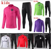 kinder jungen anzüge großhandel-Real Madrid Kinder DI MARIA CAVANI Paris Trainingsanzug Fußball Trikots Kit 18 19 20 Jungen psg Fußball Jacke Trainingsanzug Set