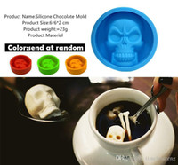 Wholesale mini silicone moulds for sale - Group buy Food Grade Mini Skull Silicone Mold For Cake Pudding Chocolate Ice Biscuit Non Stick Muffin Cup Moulds Bakeware Baking Tools
