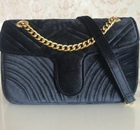 Wholesale velvet crossbody bag resale online - Hot Sale Fashion Handbags Women Bags Designer Handbags Women cm gold Chain Strap Velvet Bag Crossbody Shoulder Bags Totes messenger