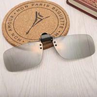 óculos de luz pendente venda por atacado-A nova moda 3D óculos CLIP confortável cinema 3D especial rodada luz parcial não-Flash estéreo miopia pingente olhos