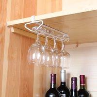 ingrosso appendiabiti per bicchieri di vino-Titolare di bicchieri di vino decorativo a casa singola fila giapponese appeso a testa in giù Coppa Calici Display Rack Home Bar in ferro Wine Stand