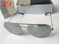 Wholesale case red color resale online - 2019 Designer Sunglasses Rays Vintage Pilot Men Women mm mm Bans UV400 Justin Band Mirror Metal Frame Glass Lens Ben Classic with cases