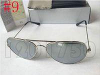 gafas de sol de diseño 62mm al por mayor-2019 Gafas de sol de diseñador Rayos Vintage Pilot Hombres Mujeres 58mm 62mm Prohibiciones UV400 Justin Band Espejo Marco de metal Lente de vidrio Ben Classic con estuches