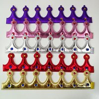 Wholesale king crown hats for sale - Group buy King Crown Halloween Children Adult Party Cosplay Bright Cloth Hat Prince Princess Queen Imperial Crowns Factory Direct Selling cy p1