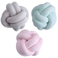 Wholesale handmade plush stuffed for sale - Group buy Plush Knot Ball Throw Sofa Cushion Handmade Decorative Pillow Kids Room Decoration Lumber Stuffed Toy
